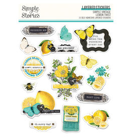 simple stories Simple Vintage Lemon Twist - Layered Stickers