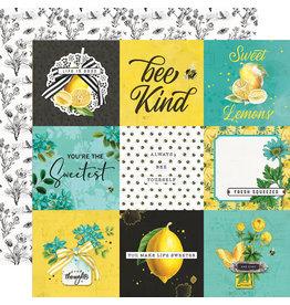 simple stories Simple Vintage Lemon Twist Paper- 4x4 Elements