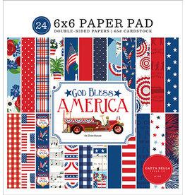 Carta Bella God Bless America: 6x6 Paper Pad