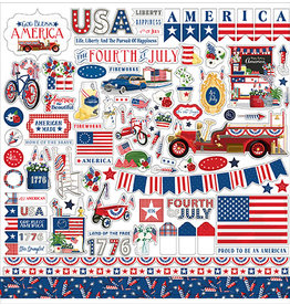 Carta Bella God Bless America: Element Sticker