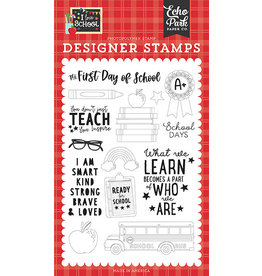 Echo Park I Love School:First Day of School Stamp Set