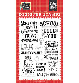 Echo Park I Love School:School is Cool Stamp Set