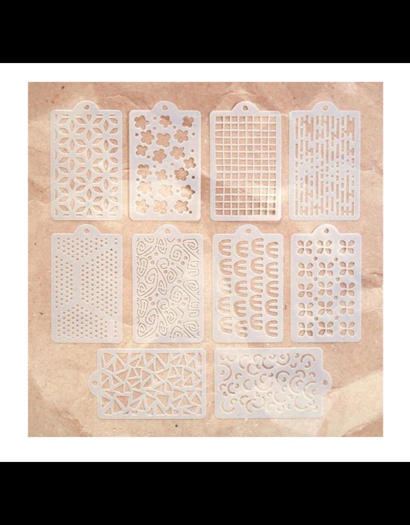 Elizabeth Crafts Art Journal: Happy Patterns Stencil