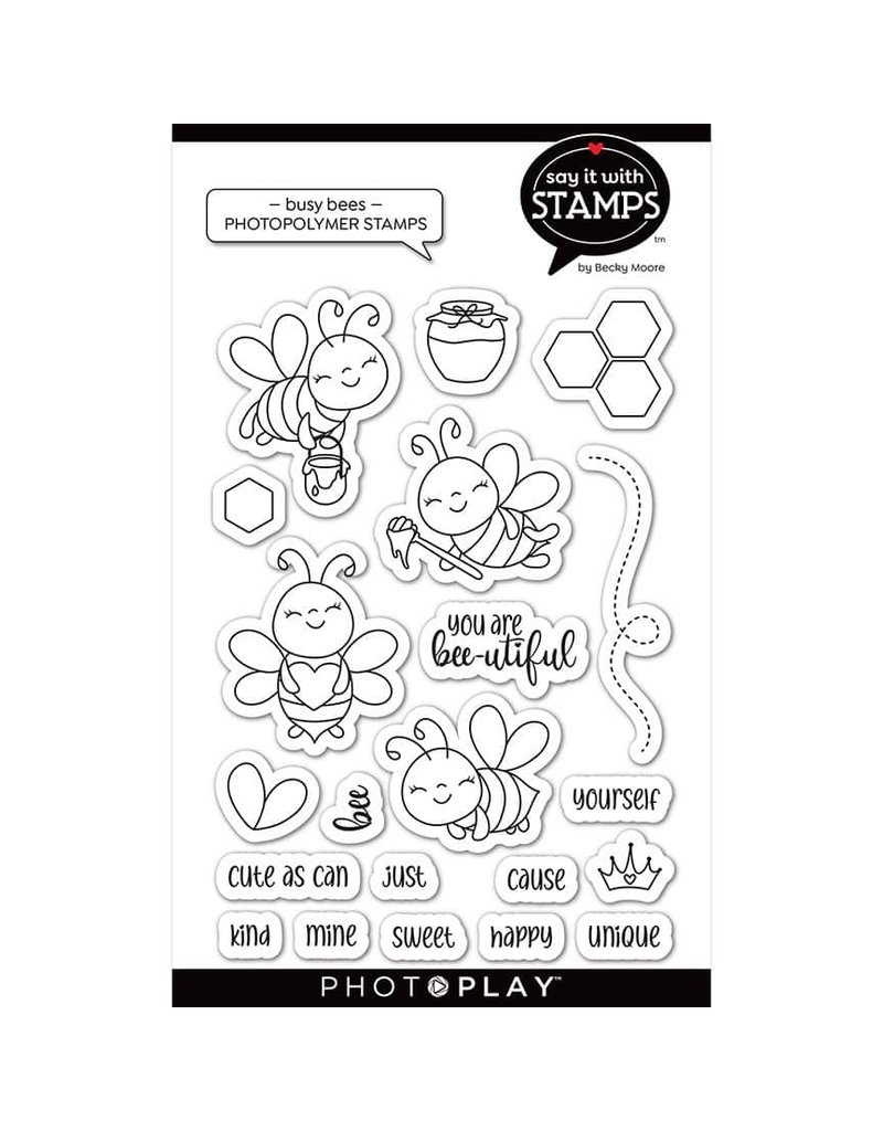 Photoplay Busy Bees  Stamps
