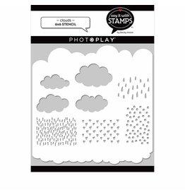 Photoplay Clouds 6x6 Stencil