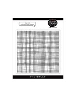 Photoplay Ditsy Grid 6x6 Background Stamp