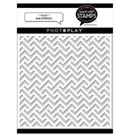 Photoplay Maze 6x6 Stencil
