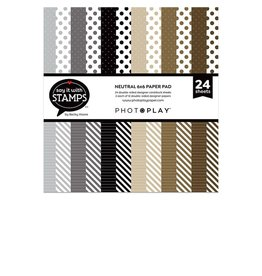 Photoplay Neutral dots & stripes 6x6 Pad