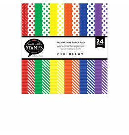 Photoplay Primary dots & stripes 6x6 Pad