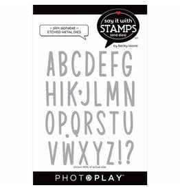 Photoplay Slim Alphabet Dies