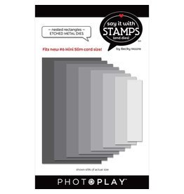 Photoplay #6 Nested Rectangles Dies