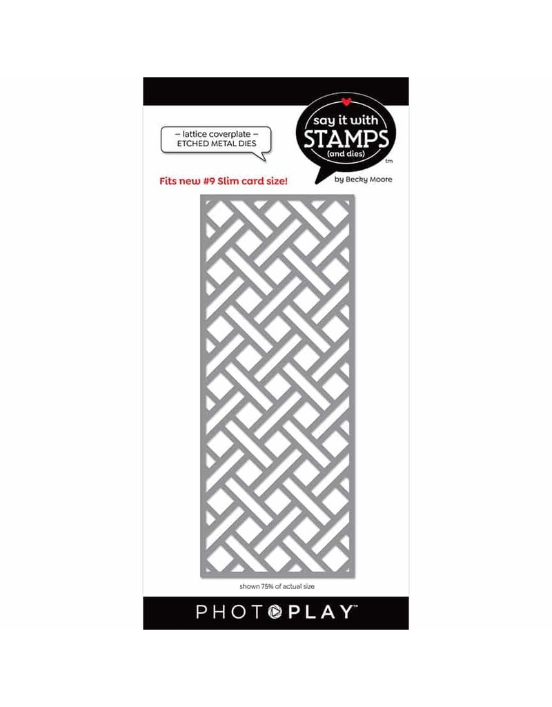 Photoplay #9 Lattice Coverplate Dies