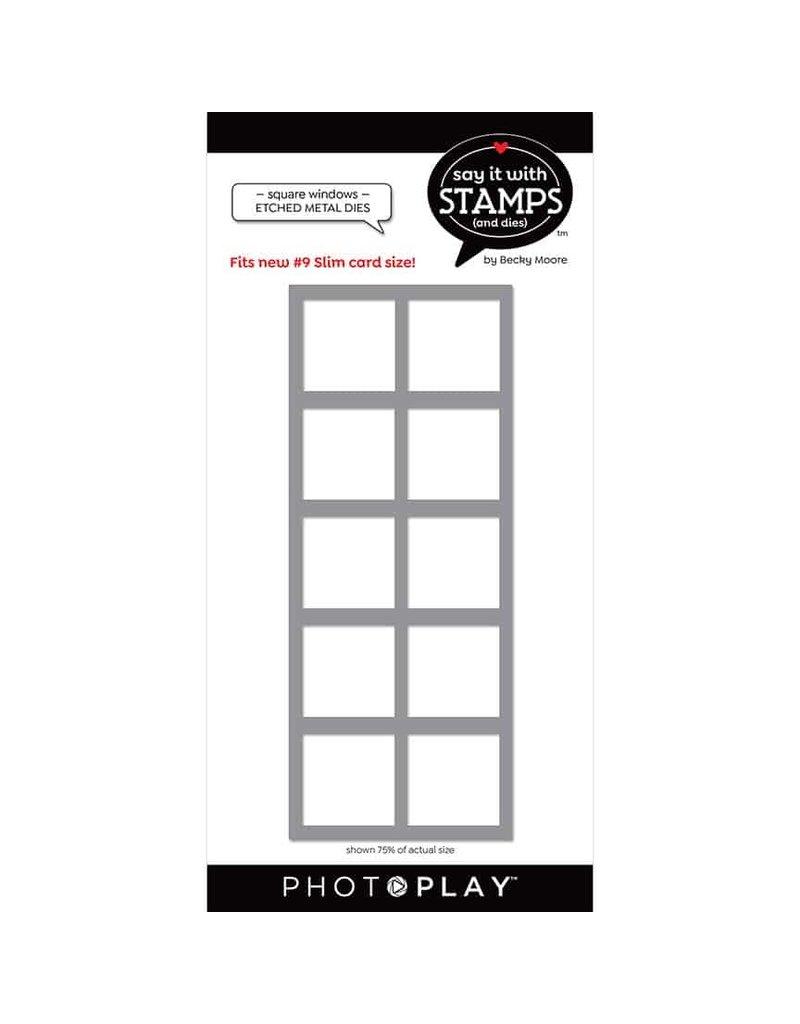 Photoplay #9 Squares window Dies