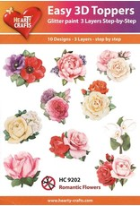 Hearty Crafts 3D Toppers: Romantic Flowers