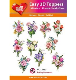 Hearty Crafts 3D Toppers: Spring Bouquets