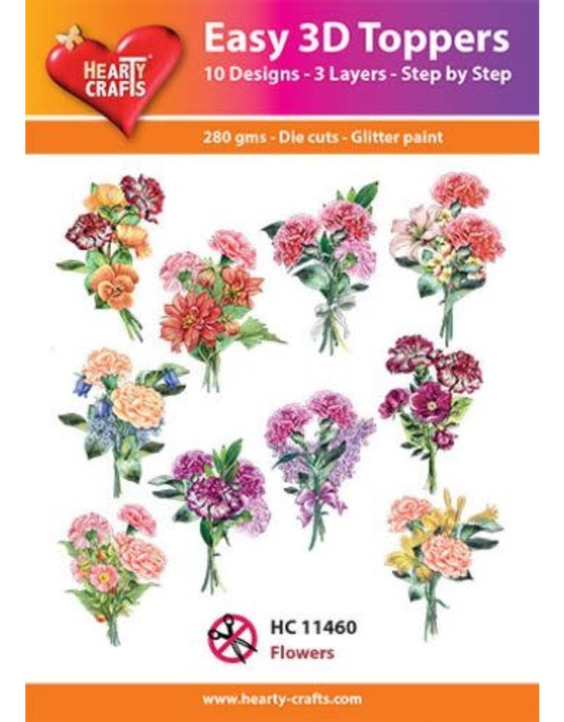 Hearty Crafts 3D Toppesr: Flowers
