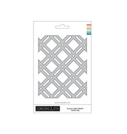 concord & 9th Plaid Card Front Thick Die