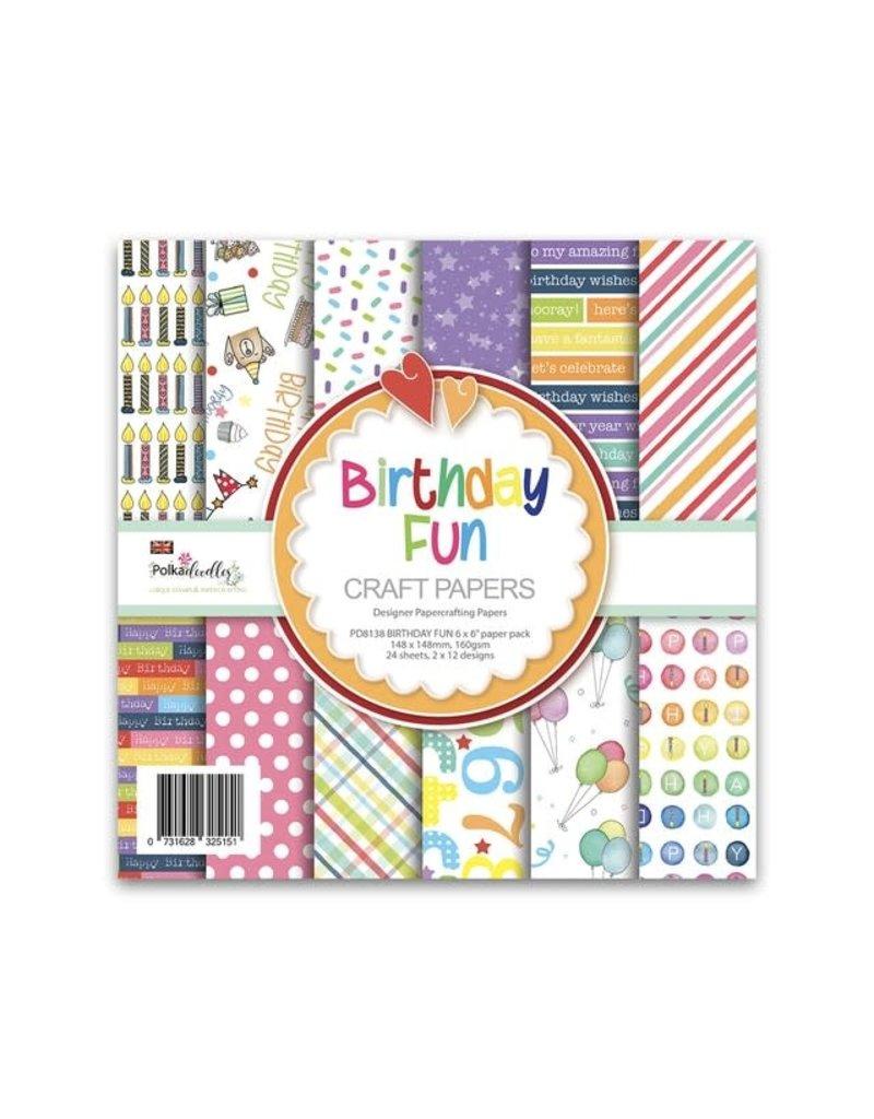 Polkadoodles Birthday Fun 6x6 Paper Pack