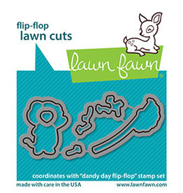lawn fawn dandy day flip-flop die
