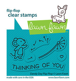 lawn fawn dandy day flip-flop stamp
