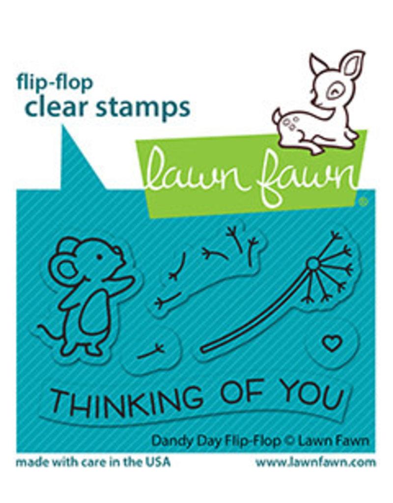 lawn fawn dandy day flip-flop stamp