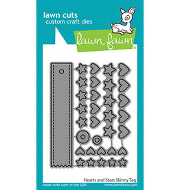 lawn fawn hearts and stars skinny tag die