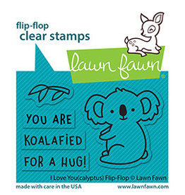 lawn fawn i love you(calyptus) flip-flop stamp