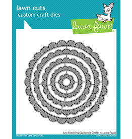 lawn fawn just stitching scalloped circles die