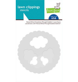 lawn fawn reveal wheel templates: thought bubble