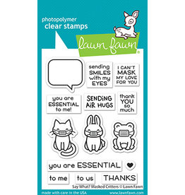 lawn fawn say what? masked critters stamp