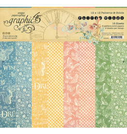 GRAPHIC 45 Fairie Wings Patterns & Solids Pad
