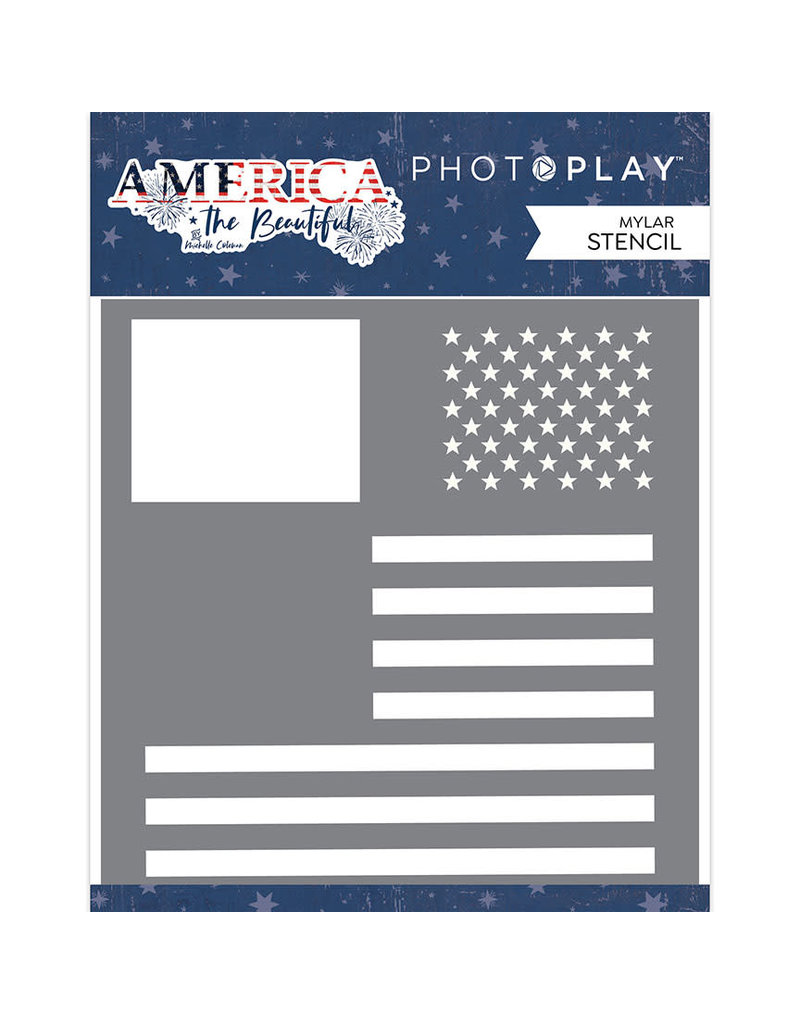 Photoplay America the Beautiful - Stencil Flag
