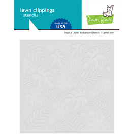 lawn fawn tropical leaves background stencils