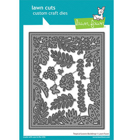 lawn fawn tropical leaves backdrop die