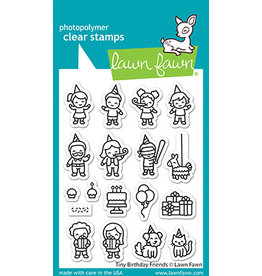 lawn fawn tiny birthday friends stamp