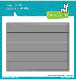 lawn fawn simple stripes die: landscape