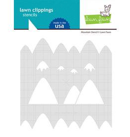 lawn fawn mountain stencil