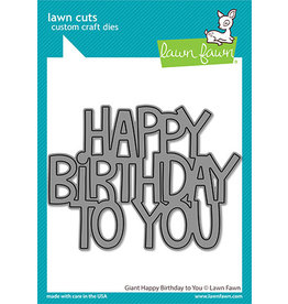 lawn fawn giant happy birthday to you die
