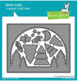 lawn fawn forest backdrop die