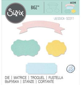 Jessica Scott Banners & Labels Bigz Die
