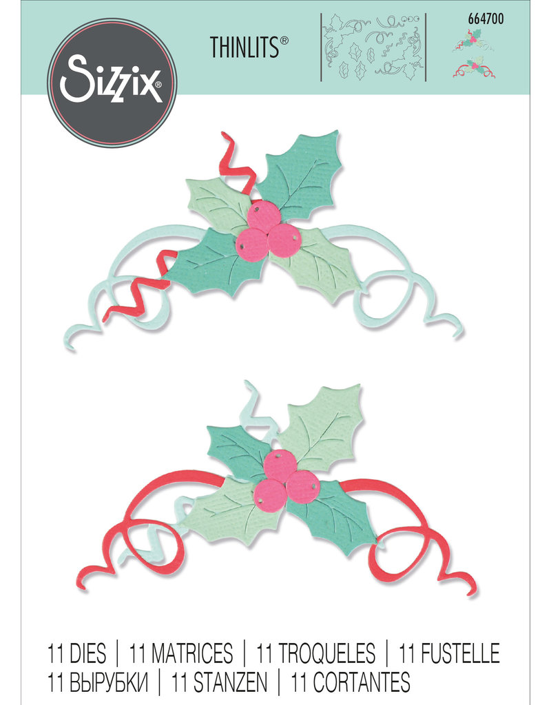 sizzix Boughs of Holly Die