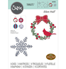 Eileen Hull Wreath & Snowflake  Die