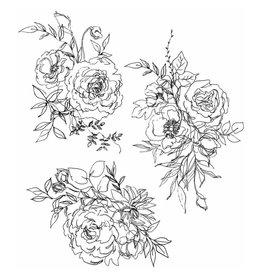Tim Holtz Floral Outlines Stamp