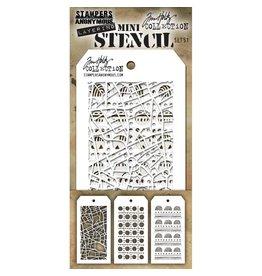 Tim Holtz Mini Stencil Set 51