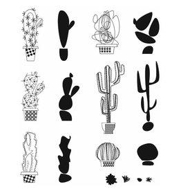 Tim Holtz Mod Cactus Stamp