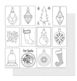 Photoplay The North Pole Trading Co. Paper - Color Me Ornaments
