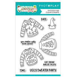 Photoplay Tulla & Norbert's Christmas Party - UGLY Sweater  Stamp Set