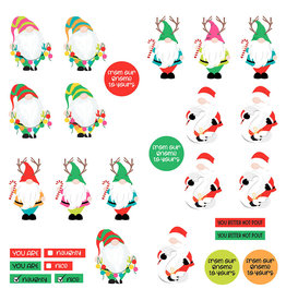 Photoplay Tulla & Norbert's Christmas Party Paper - Pre-Colored Gnomies Dies Paper
