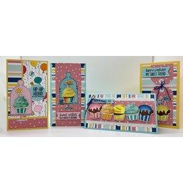 Nikki Sher 8/07/21 PhotoPlay Mini Slimline Birthday Cards by Nikki Sher