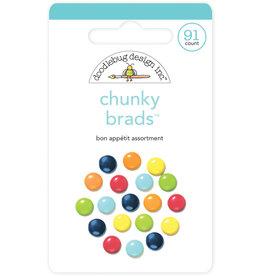 DOODLEBUG cute & crafty: bon appétit assortment chunky brads